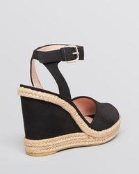 Stuart Weitzman - Brown Platform Espadrille Wedge Sandals Waycool - Lyst