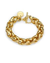 1ar | Metallic Braided Chain Bracelet | Lyst