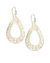 Bavna | 18k Yellow Gold Filigree Earrings | Lyst