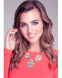 Bebe - Multicolor Colorful Statement Necklace - Lyst