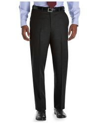 Brooks Brothers | Gray Madison Fit Plain-front Flannel Trousers for Men | Lyst