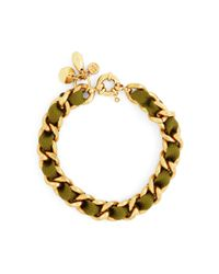 Brooks Brothers | Green Woven Charm Bracelet | Lyst