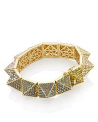 Eddie Borgo | Metallic Rainbow Pavé Large Pyramid Bracelet | Lyst