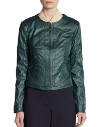 Ellen Tracy - Green Diamond Quilted Jacket - Lyst