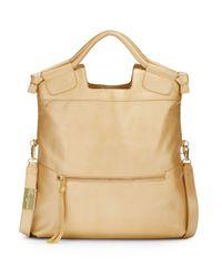Foley + Corinna - Mid City Metallic Leather Convertible Foldover Handbag - Lyst
