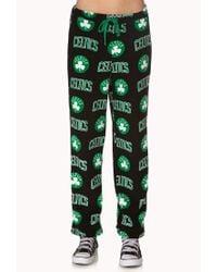 Forever 21 | Black Boston Celtics Pj Pants | Lyst
