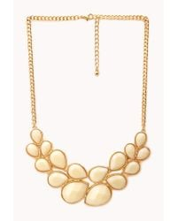 Forever 21 | Metallic Statement Bib Necklace | Lyst