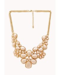 Forever 21 | Metallic Bold Bauble Bib Necklace | Lyst