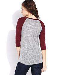 Forever 21 - Red Everyday Baseball Tee - Lyst