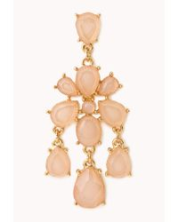 Forever 21 - Pink Standout Chandelier Earrings - Lyst