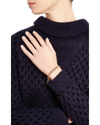 Gag & Lou | Black Gold Plated Pompom Bracelet | Lyst