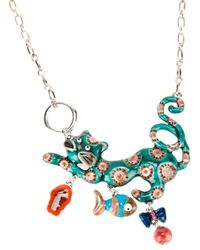 !item - Multicolor Cat Pendant Necklace - Lyst