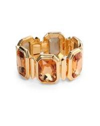 Judith Leiber - Metallic Papa Swarovski Crystal Bracelet - Lyst