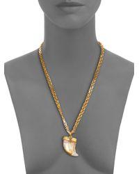 Kara Ross - Metallic Horn Pendant Necklace - Lyst