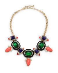 Kenneth Jay Lane - Multicolor Deco Bib Necklace - Lyst