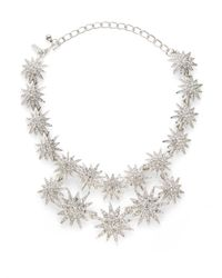 Kenneth Jay Lane - Metallic Starburst Doublerow Necklace - Lyst