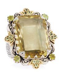 Konstantino | Yellow Irma Lemon Topaz & Peridot Ring | Lyst