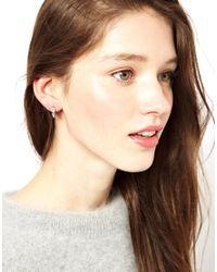 Maria Francesca Pepe - Metallic Silver Hoop with Spikes Earring - Lyst