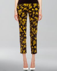 Michael Kors - Natural Samantha Leaf Print Pants - Lyst