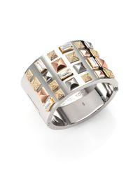Michael Kors - Metallic Multicolor Pyramidstud Bangle Bracelet - Lyst