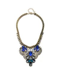 Piper Strand | Blue and Teal Crystal Statement Necklace | Lyst