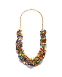 Piper Strand | Multicolor Tropical Foiled Chain Link Necklace | Lyst