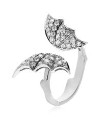 Stephen Webster | Metallic Diamond Butterfly White Gold Ring | Lyst