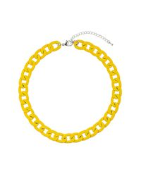 TOPSHOP | Chunky Yellow Chain Necklace | Lyst