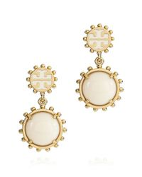 Tory Burch | Natural Winslow Logo Drop Earring | Lyst