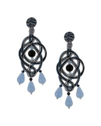 Anna E Alex | Gray Blue Passementerie Chandelier Earrings | Lyst