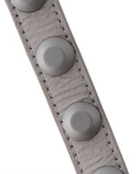 Balenciaga - Gray Rubber Studded Leather Bracelet - Lyst