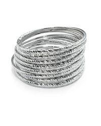 Carolee | Metallic Textured Bangle Bracelet Set | Lyst