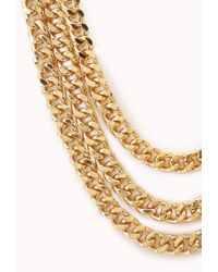 Forever 21 - Metallic Rebel Girl Layered Necklace - Lyst