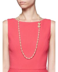 Miriam Haskell - Multicolor Flower Motif Pearl Necklace - Lyst