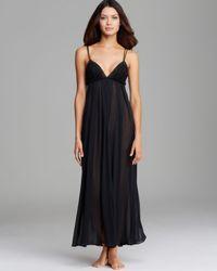 Oscar de la Renta - Black Romantic Whispers Long Nightgown - Lyst