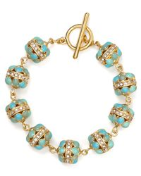 Ralph Lauren - Blue Lauren Half Moon Bracelet - Lyst