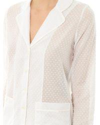 Raphaëlla Riboud - White George Swissdot Pyjama Shirt for Men - Lyst
