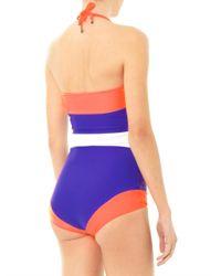 ROKSANDA | Blue Talgo Colour Block Swimsuit | Lyst