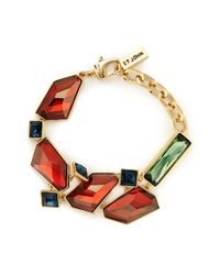 St. John | Brown Faceted Swarovski Crystal Bracelet | Lyst