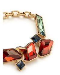 St. John - Brown Faceted Swarovski Crystal Bracelet - Lyst