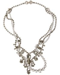 Tom Binns - Metallic Crystal Embellished Necklace - Lyst