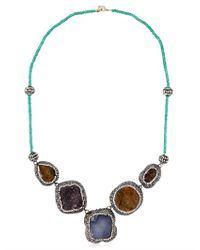 Aamaya By Priyanka | Blue Statement Necklace | Lyst