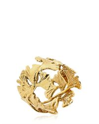Aurelie Bidermann | Metallic Ginko Feather Ring | Lyst