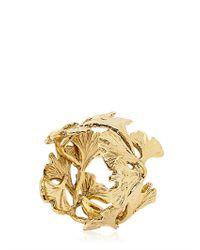 Aurelie Bidermann | Metallic Ginko Feather Ring | Lyst