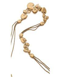 Aurelie Bidermann - Metallic Nympheas Leaves Necklace - Lyst