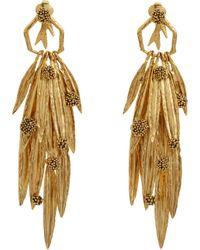 Aurelie Bidermann - Yellow Gold Surfing Mimosa Drop Earrings - Lyst