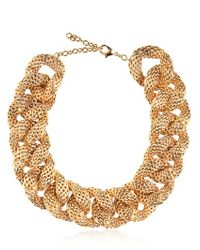 Balmain - Metallic Gold Plated Chain Necklace - Lyst