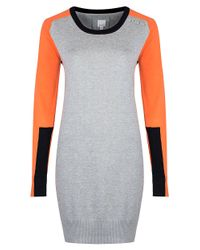 Bench - Gray Colorblock Sweater Dress - Lyst