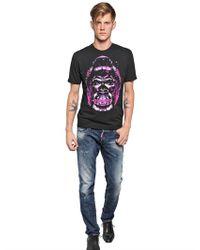DSquared² | Black Cotton Jersey Gorilla T-shirt for Men | Lyst