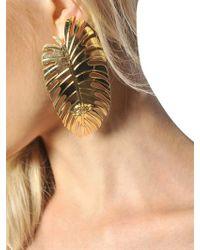 DSquared² - Metallic Leaf Earrings - Lyst